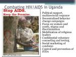 combating hiv aids in uganda