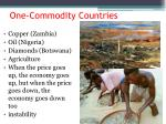 one commodity countries