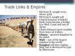 trade links empires