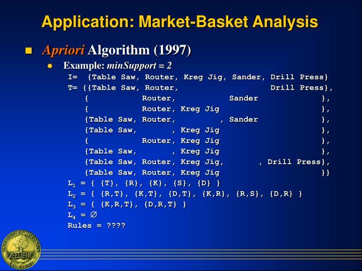 Application: Market-Basket Analysis