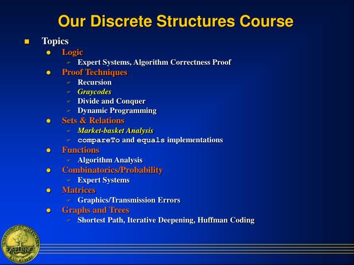 Our Discrete Structures Course