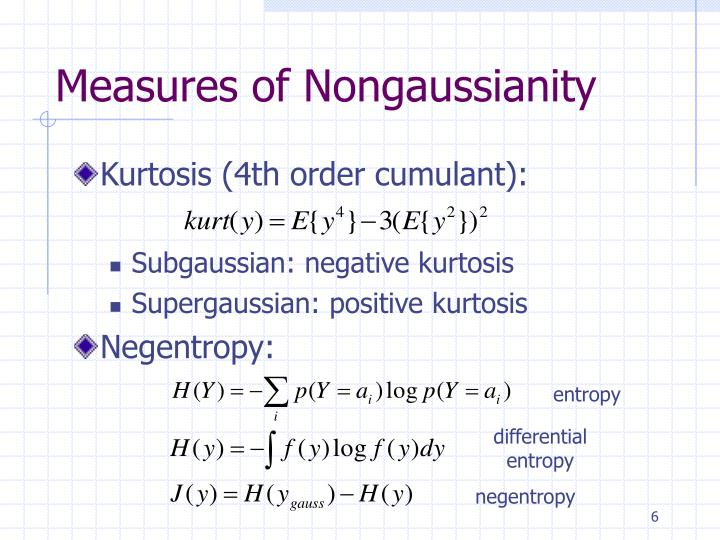 Measures of Nongaussianity