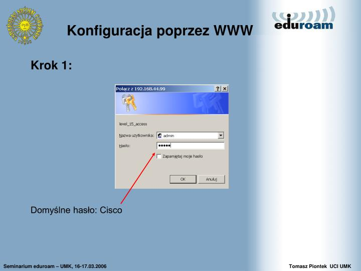 Konfiguracja poprzez WWW