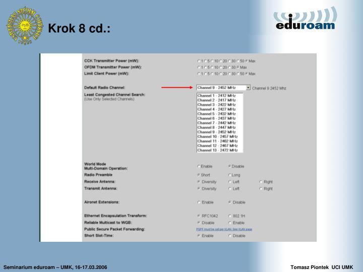 Krok 8 cd.: