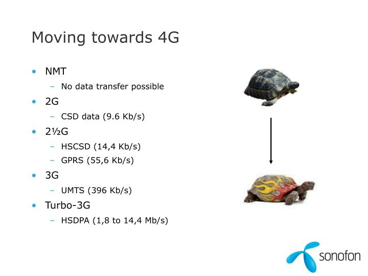 Moving towards 4G