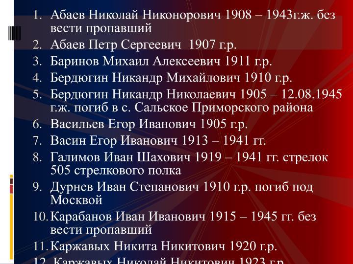 Абаев Николай