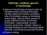 definicija i ure enje ugovora o franchisingu