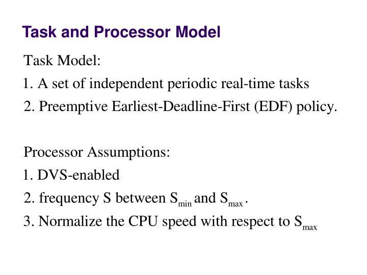 Task and Processor Model
