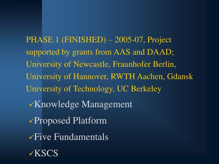 PHASE 1 (FINISHED)
