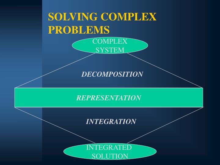 SOLVING COMPLEX PROBLEMS