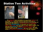 station two activities