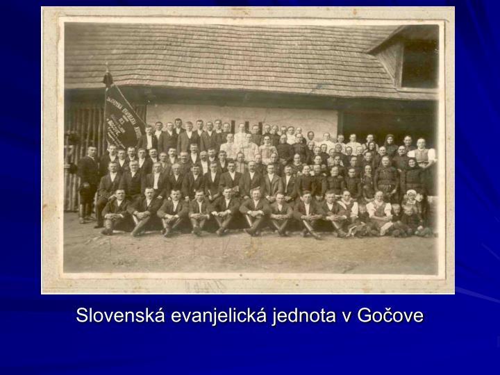 Slovenská evanjelická jednota v Gočove
