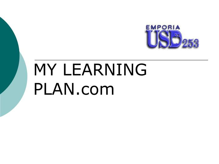 my learning plan Standards of learning transportation we put students first, seek growth, are open to change, do great work together and value differences website accessibility.