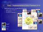 plans implementation of grid testbed 2 2