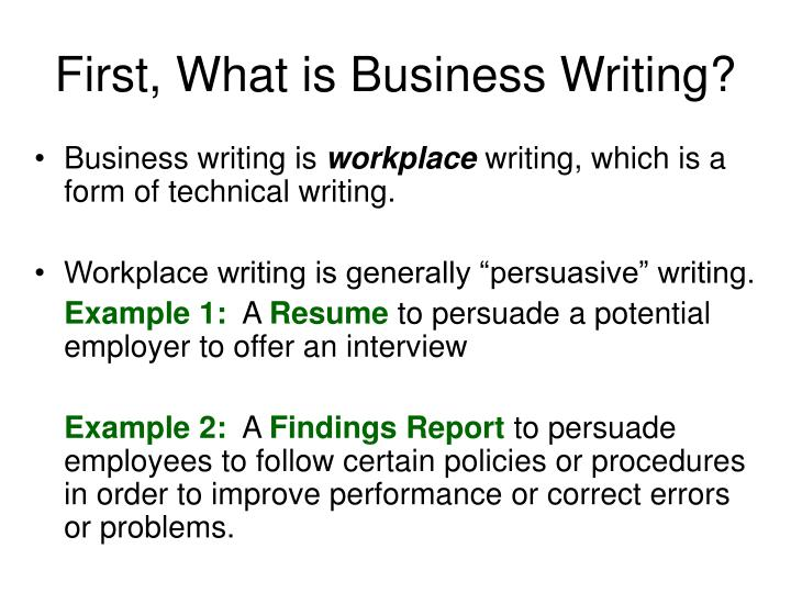 ppt - basic business writing powerpoint presentation
