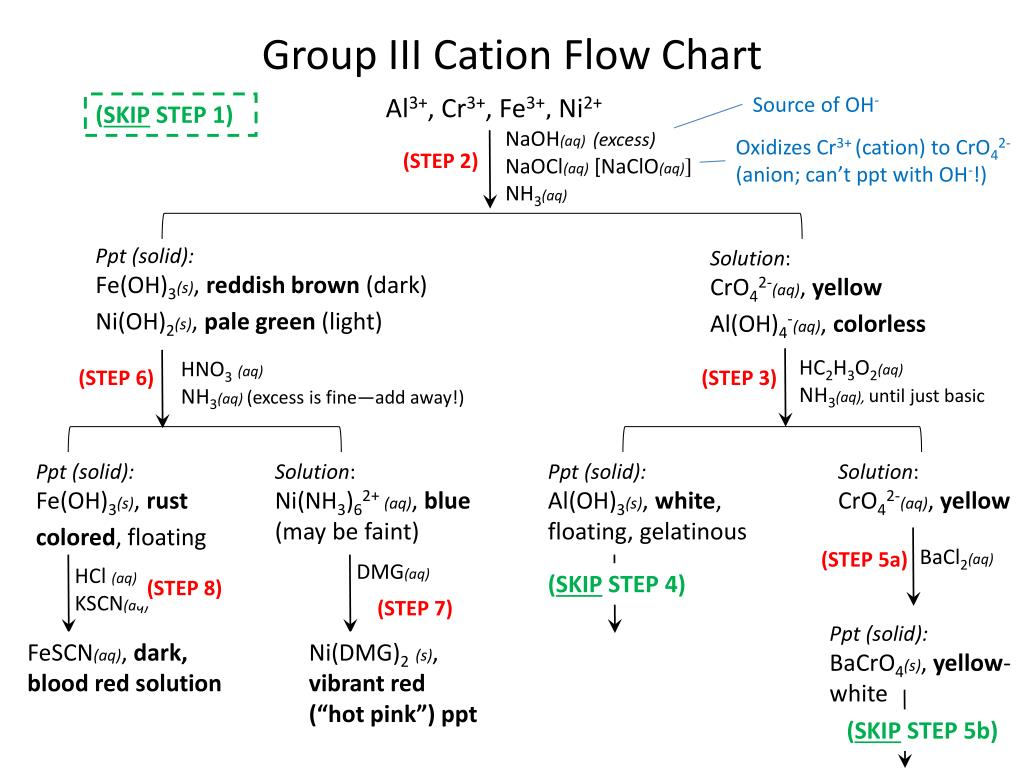 Ppt Group Iii Cation Flow Chart Powerpoint Presentation Free Download Id 4182850
