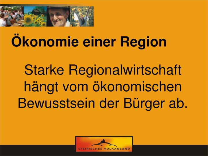 Ökonomie einer Region