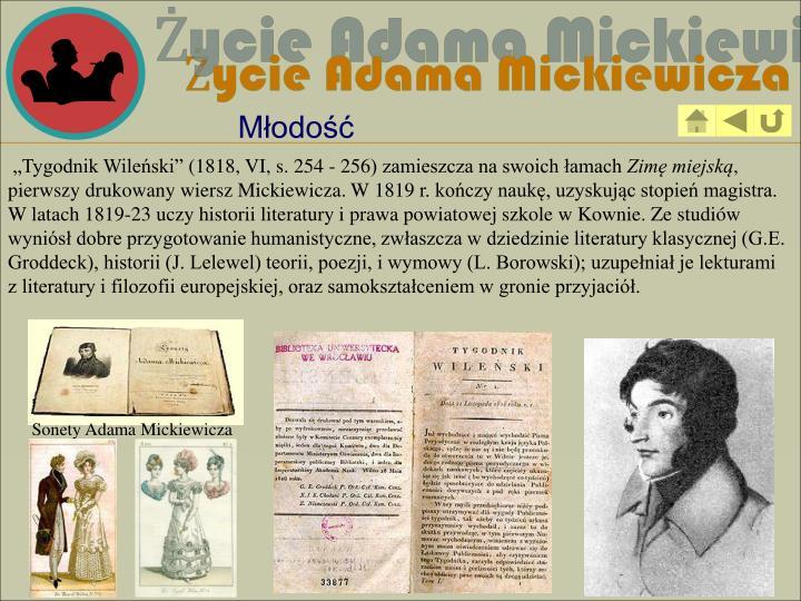 Sonety Adama Mickiewicza