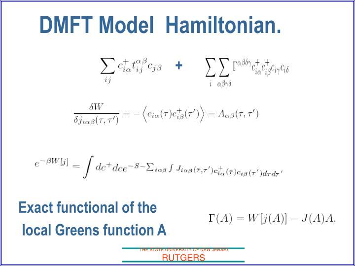 DMFT Model  Hamiltonian.