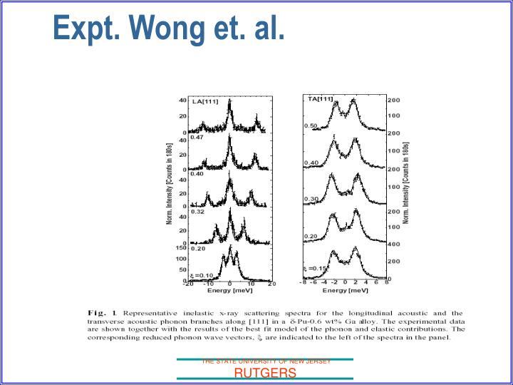 Expt. Wong et. al.