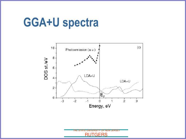GGA+U spectra