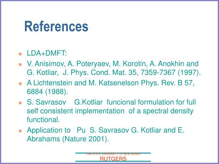 LDA+DMFT: