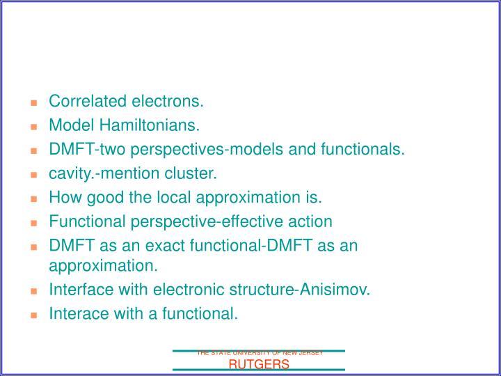 Correlated electrons.