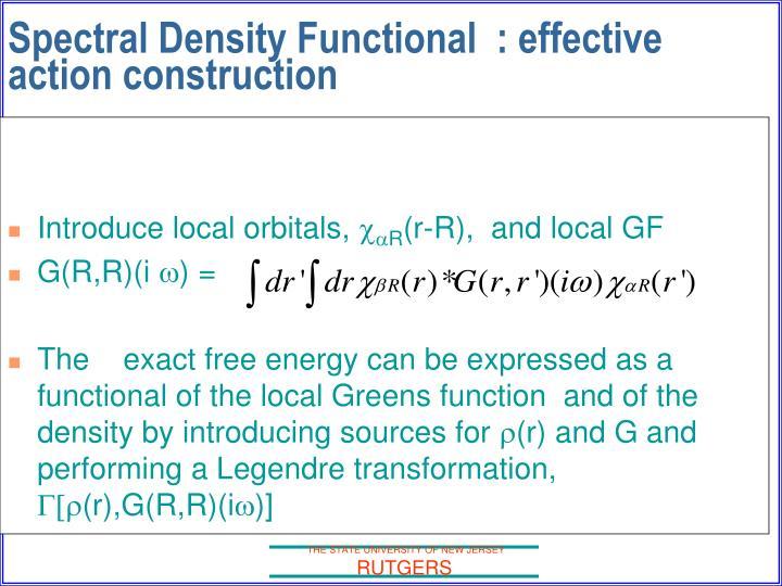 Introduce local orbitals,