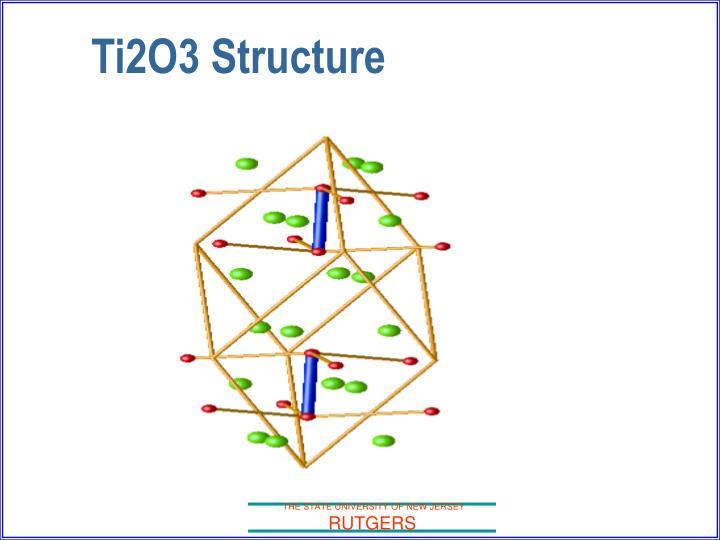 Ti2O3 Structure