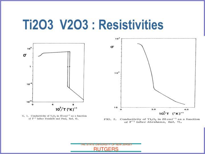 Ti2O3  V2O3 : Resistivities