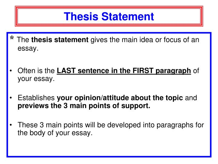 thesis main points