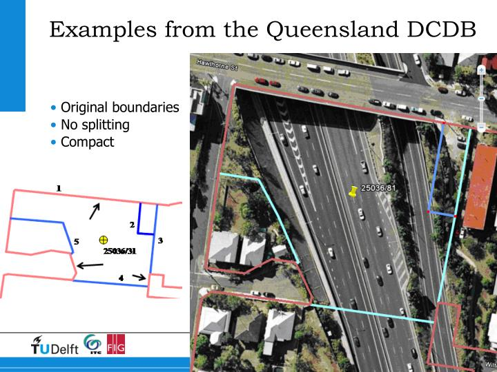 Examples from the Queensland DCDB