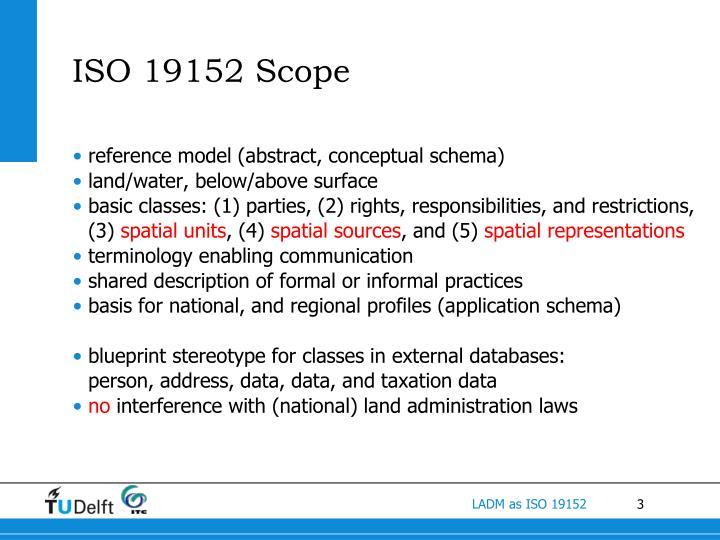 Iso 19152 scope