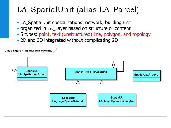 LA_SpatialUnit (alias LA_Parcel)