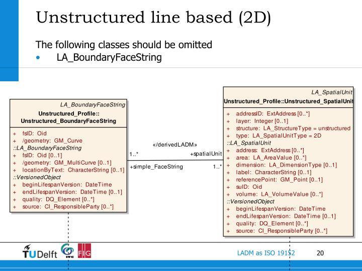 Unstructured line based (2D)
