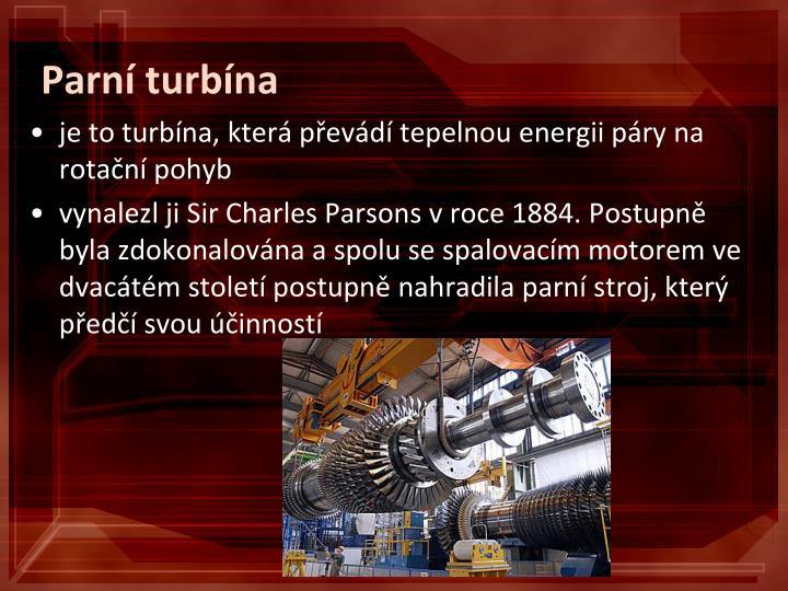 Parní turbína
