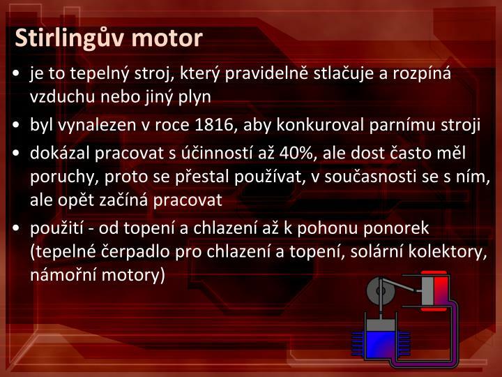 Stirlingův motor