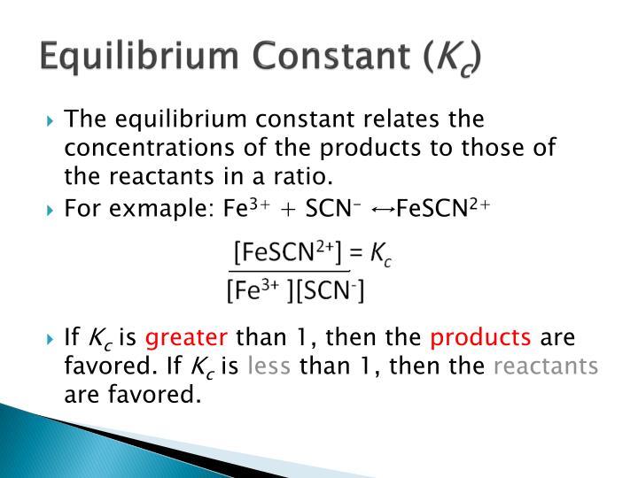Equilibrium constant k c