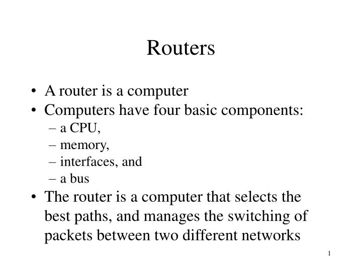 routers n.