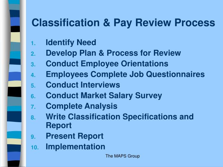 Classification & Pay Review Process