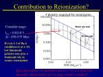 contribution to reionization