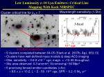 low luminosity z 10 ly emitters critical line mapping with keck nirspec