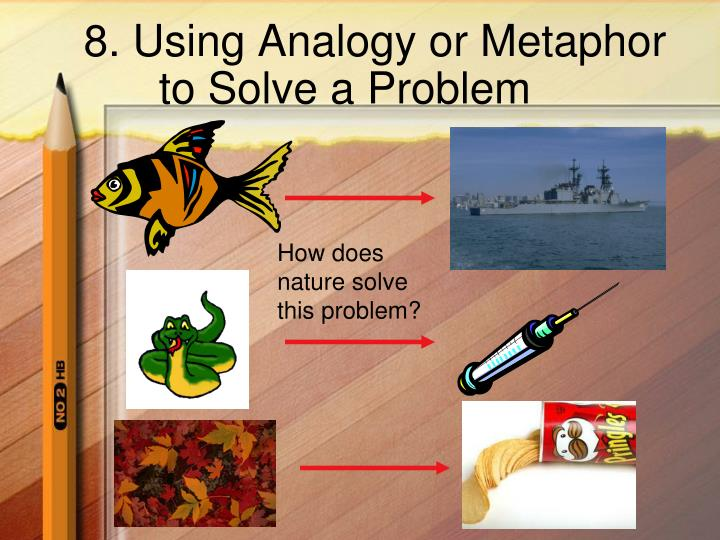 8. Using Analogy or Metaphor to Solve a Problem