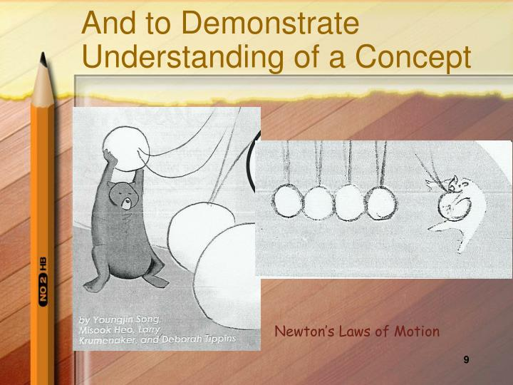 And to Demonstrate Understanding of a Concept