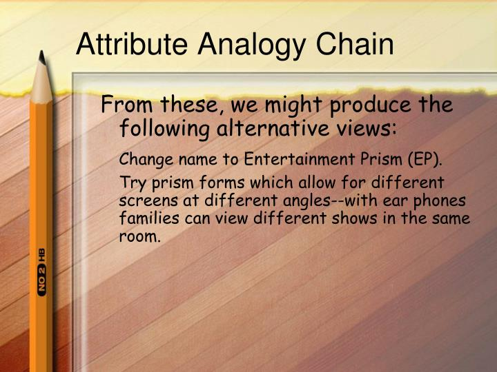 Attribute Analogy Chain