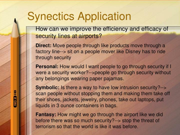 Synectics Application