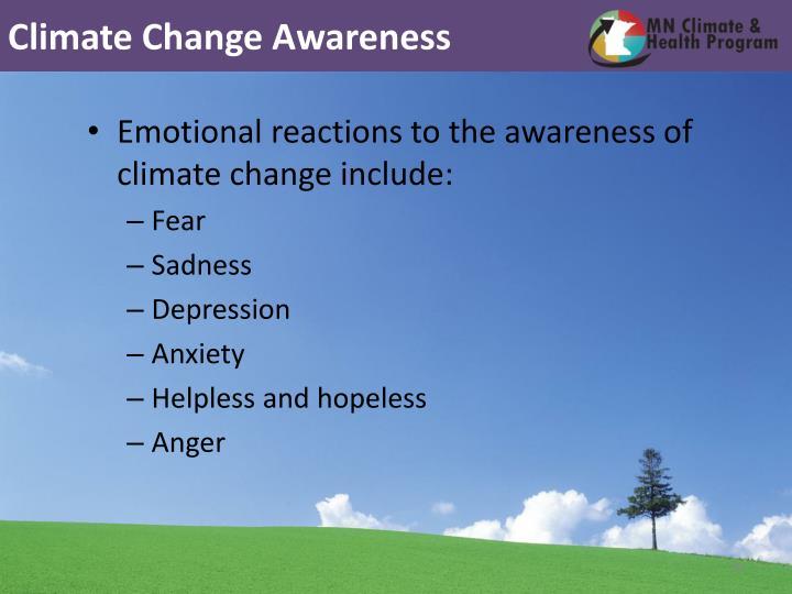 Climate Change Awareness