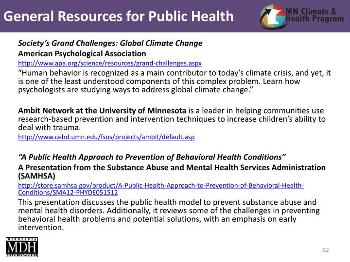 General Resources for Public Health