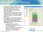 ionosphere grid selection1