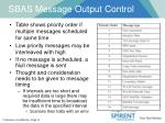 sbas message output control1
